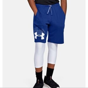 Under Armour Youth XS logo shorts NWT